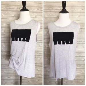 4 for $25 Betsey Johnson grey love tank top